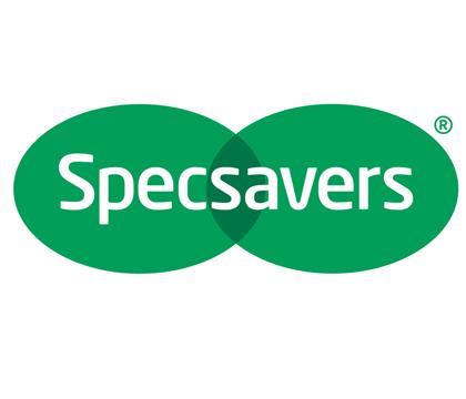 Specsavers Logo - Magician Leigh Edgecombe - Previous Client